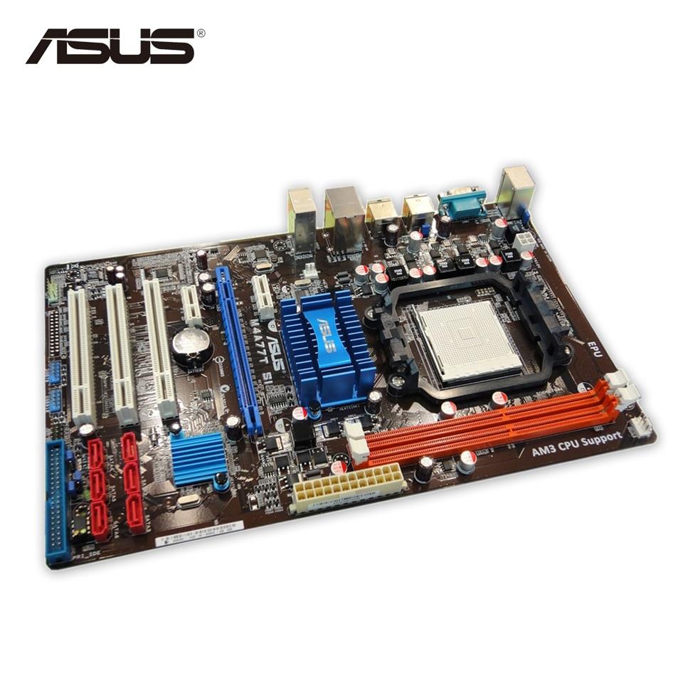 Asus M4A77T SI Desktop Motherboard 770 Socket AM3 DDR3 SATA II USB2.0 ATX Second-hand High Quality asus m4a77td original used desktop motherboard 770 socket am3 ddr3 16gb sata ii usb2 0 atx