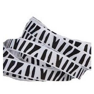 Free Shipping 3 8 Grosgrain Ribbon Zebra Print Black and White 9mm wide