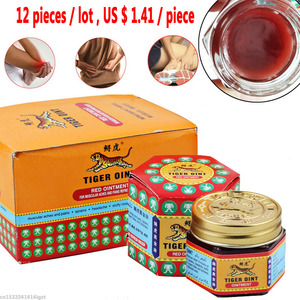 12pcs Red White Tiger Balm Ointment For Headache Toothache Stomachache Muscle Pain Relieving Balm Dizziness Essential Balm oil(China)
