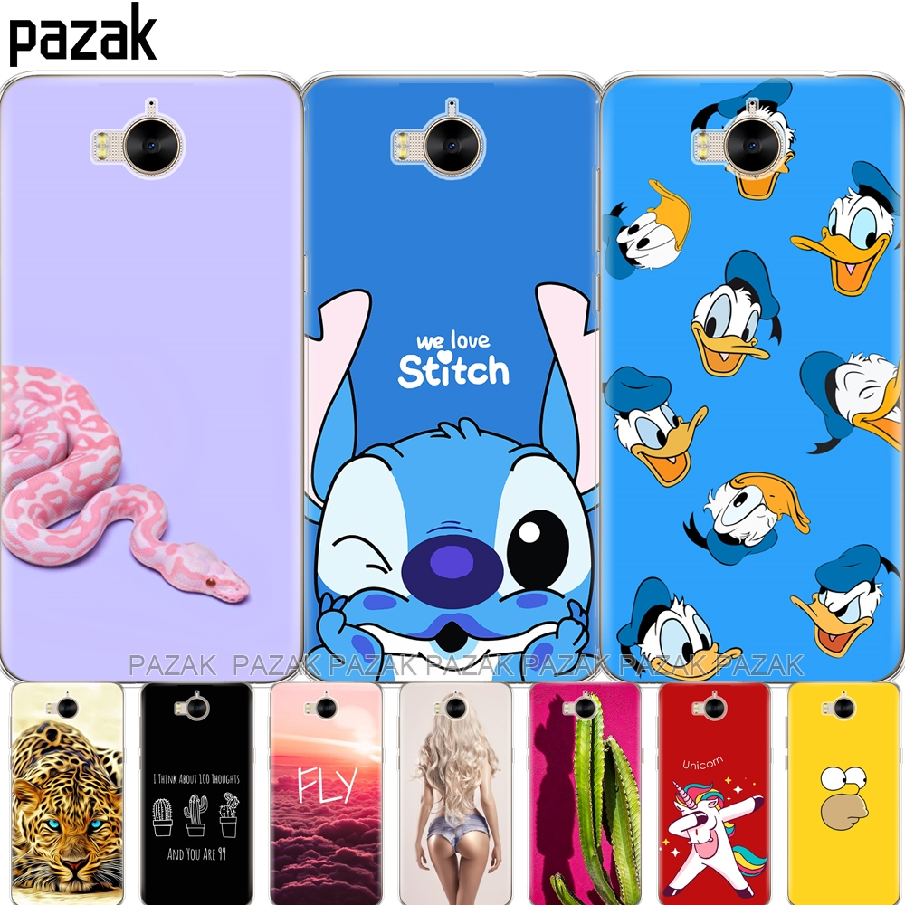 <font><b>Silicone</b></font> phone <font><b>Case</b></font> For <font><b>huawei</b></font> <font><b>Y6</b></font> <font><b>2017</b></font> / Y5 <font><b>2017</b></font> soft tpu silicon Coque etui bumper 360 full protective transparent image