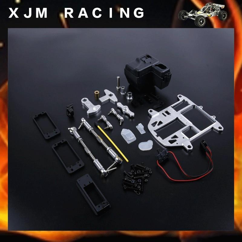 Steering system with plastic battery case kit Upgrade for HPI BAJA 5B 5T 5SC cnc 2 cylinder kit baja twin cylinder kit for 1 5 scale hpi baja 5b 5t 5sc