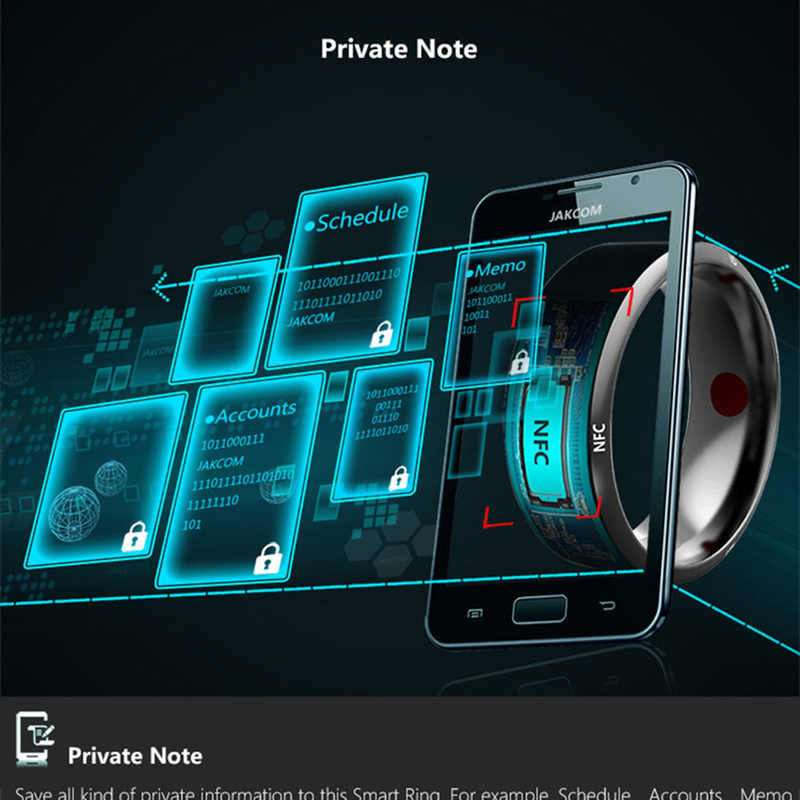 Multifungsi NFC Smart Ring Dropship Tahan Air Cerdas Magic Smart Wear Jari Digital Cincin untuk Android Windows NFC Ponsel