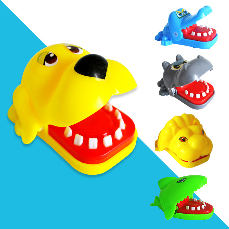 Funny Novelty Toys For Children Crocodile/Shark/Dog Mouth Biting Finger Kids Toy Stimulation Roulette Bite Finger Game Toys