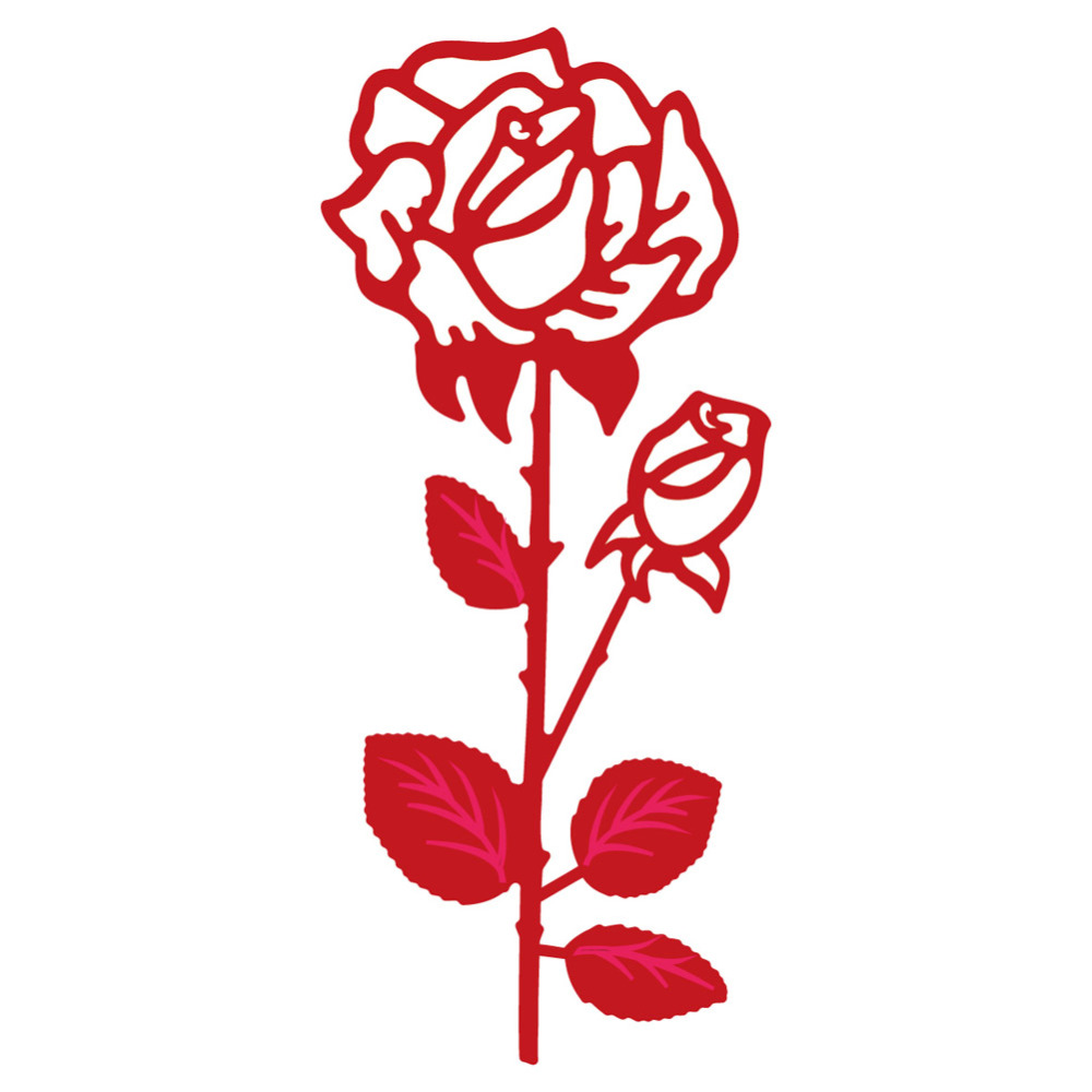 45*99mm scrapbooking DIY rose flower frame love Shape Metal steel cutting die flower Shape Book photo album art card Dies Cut