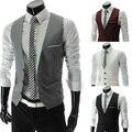 Free delivery of 2013 new styles Men's Korean metrosexual man slim V collar vest
