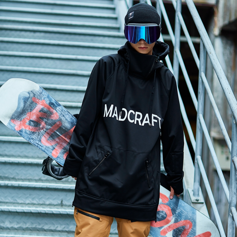 2018 New winter casual hoodies men Hoody for ski snowboarding long sleeve woman pullovers loose fit