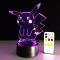 2016 Nueva Pokemon Pikachu Noche Lámpara de la Decoración Del Hogar de Deak Cordón lampada de LED Lámpara Para Niños Regalos Pokemon Pokeball pokemon