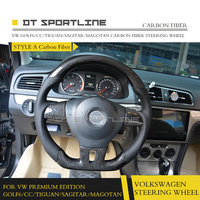 DT SPORTLINE Carbon Fibre Racing Steering Wheel For VW Golf6/CC/TIGUAN/SAGITAR/MAGOTAN Premium Edition Replacement Accessories