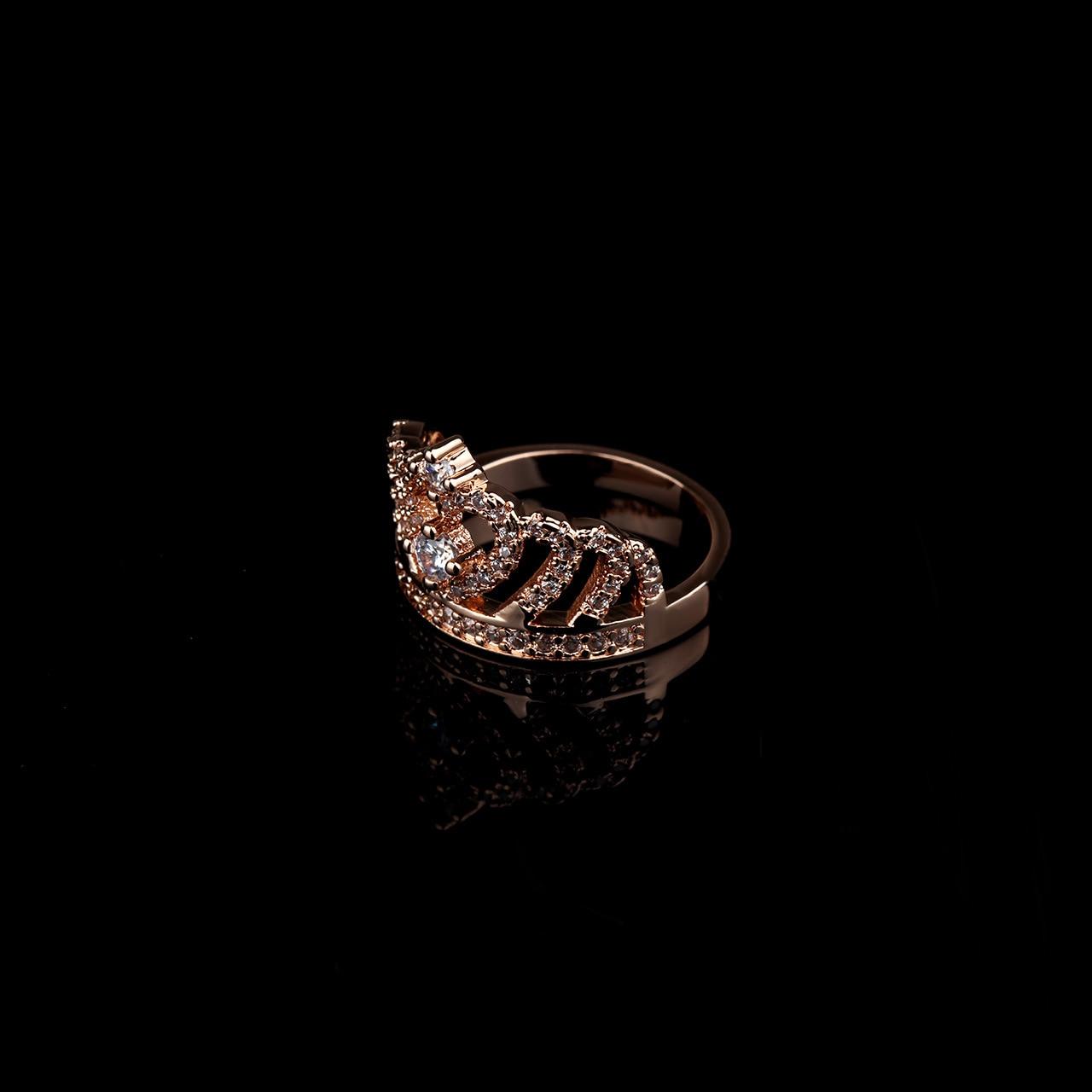Hainon Корона Кольца для Для женщин AAA + Циркон серебряные Цвет Обручение обручальное кольцо из розового золота Цвет изделия класса люкс обещан...