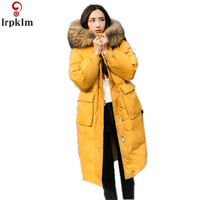 Ladies Cotton Down Coat Women Winter Long Jackets Korean Female Elegant Down Coats 2018 New Over Knee Thick Clothes CH577