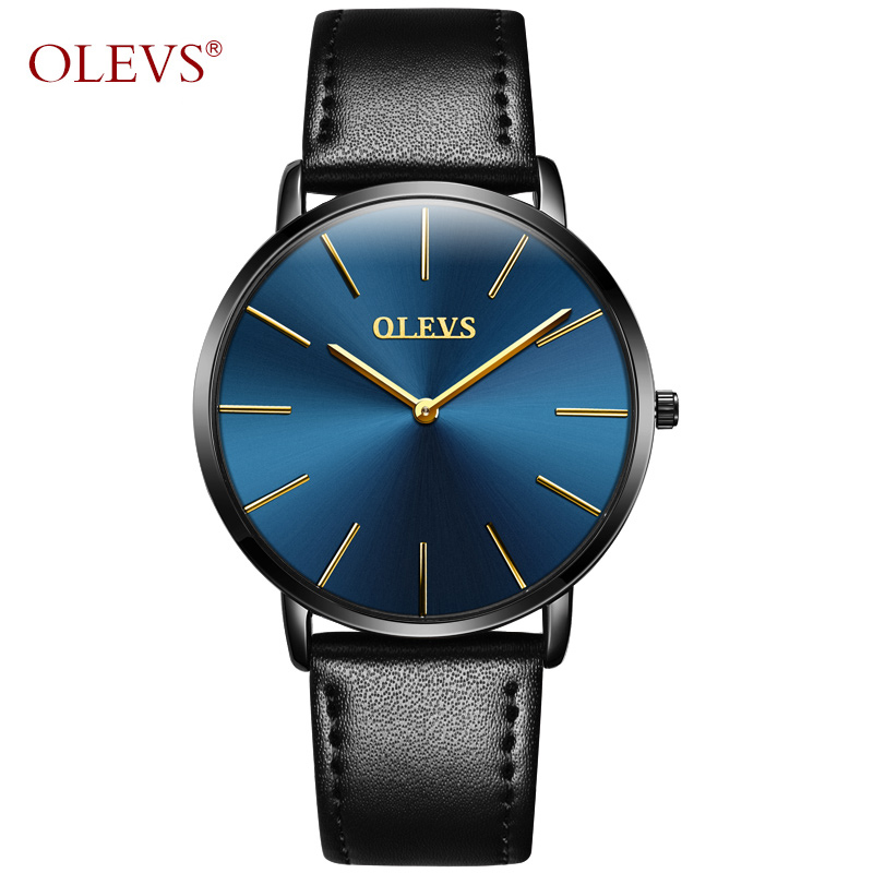 Ultra thin Quartz Wristwatch OLEVS Luxury Brand Men Watch Leather strap Casual Simple watches erkek kol saati relojes hombre yazole brand lovers watch women men watches 2017 female male clock leather men s wrist watch girls quartz watch erkek kol saati