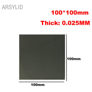 ARSYLID 100mm*100mm Black high conductivity Silicone Thermal Pad heatsink CPU Cooling pads synthetic graphite cooling film paste