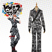 Japanese Voice Actor Division Rap Battle Mad Trigger Crew Rio Mason Busujima Crazy M Camouflage Uniform Outfit Cosplay Costume