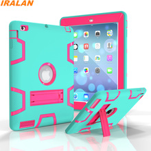 2017 Scorching Secure Shockproof Silicone+PC Pill Case For Apple iPad 2 three Four Armor Heavy Obligation Laborious Protector Cowl+Display Movie+Stylus