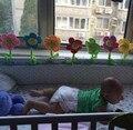 8 Pieces New Atividade Spiral Stroller Assento de Carro Viagens Torno Pendurado Brinquedos Do Bebê Chocalhos de Brinquedo