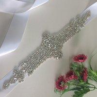 Strass Applique Per Sposa Sash Diamante Da Sposa Perla Cinghia In Rilievo RA237