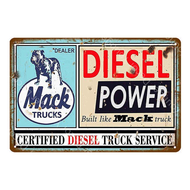 Двигатели грузовики машины автобусы продаж запчасти услуги металлические знаки Ретро Олово плакат декоративные таблички наклейки на стену Паб Бар гаражный Декор