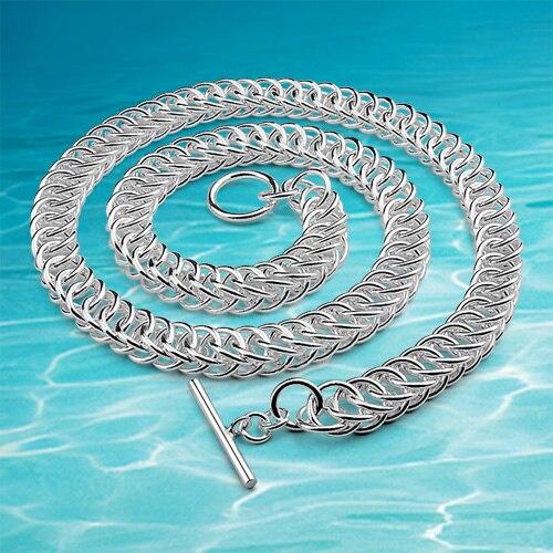 Nouveau bijoux de mode 925 en argent Sterling hommes collier, marque bijoux hommes collier en argent, 925 bijoux en argent large 10MM