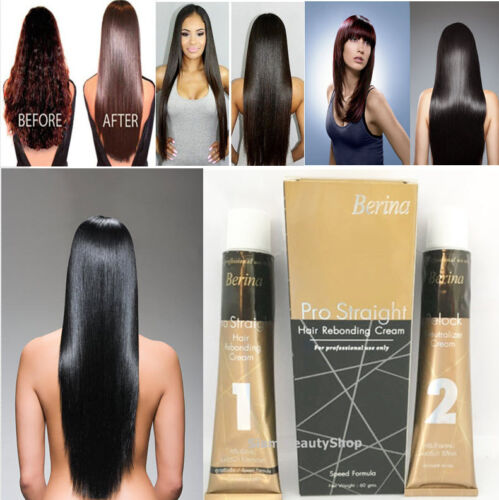 Straightening Hair Cream Permanace Rebonding Cream Relax Curly Frizz Hair Free Ship