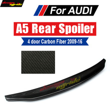 цена на For Audi A5 A5Q Rear Spoiler Tail Caractere Style 4Door High-quality Carbon Rear Trunk Spoiler Wing car styling Decoration 09-16