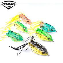 6pc/lot Soft Bait 6 Colors Fishing Lures 2.2″-5.5cm Fishing Bait 0.47oz-13.4g Fishing Tackle Frog Lure Bass Baits
