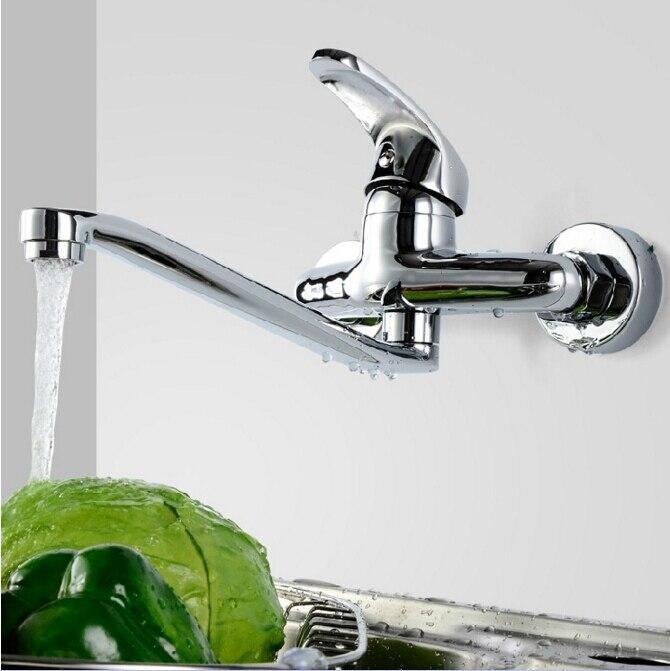 Robinets, mélangeurs et robinets d'évier de cuisine en laiton chromé de haute qualité