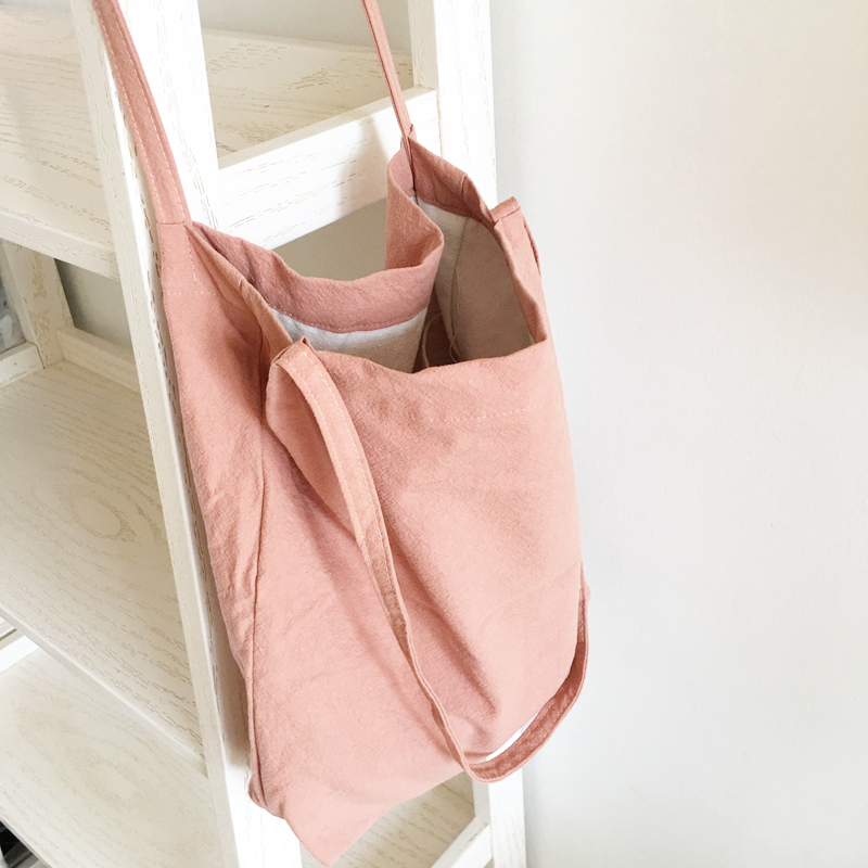 YIFANGZHE Shopping bags, Heavy Duty Cotton Washed quality cotton handbag  women/girls bags  for shopping,travel, school handbag