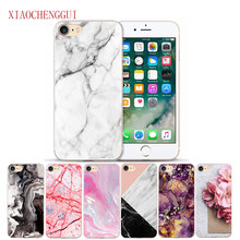 Casing untuk iPhone 5 5S SE 6 S 7 6/7/8 Plus 8 X XR X Max Case scrub Batu Marmer Gambar Dicat TPU Silicone Case Cover(China)