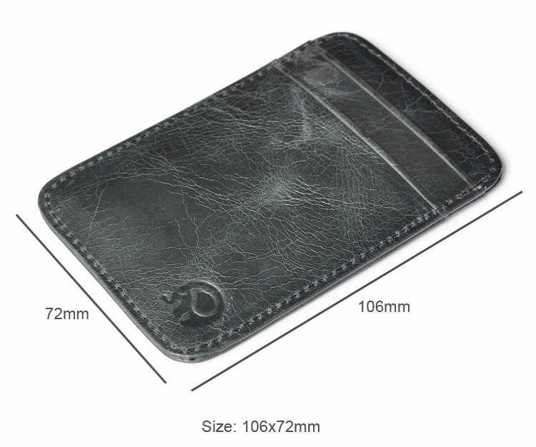 Slim Credit Card Holder Mini Wallet ID Case coin purse woman Bag Pouch credit card package card package