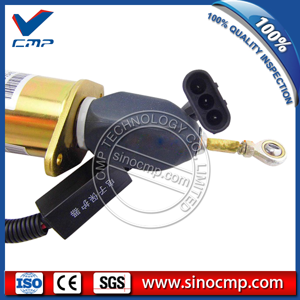 Daewoo DH300-7 6CT excavator flameout solenoid valve 3935650 new water pump for daewoo parts dh300 7 dh220 3