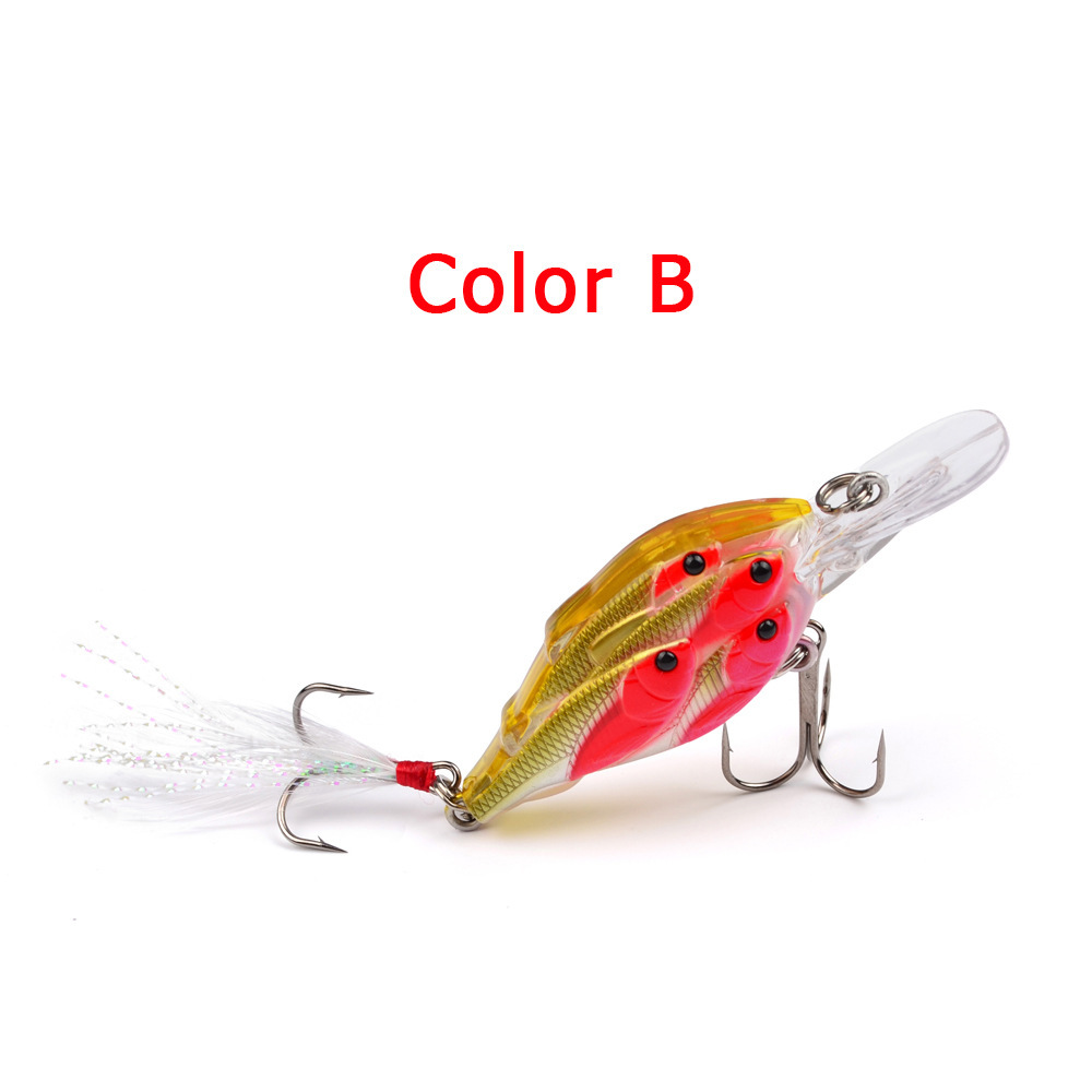 1PC 70mm 6 2g Wobblers For Trolling Crankbait Hard Bait Fishing Lures Fish Shoal Seawater Rock Trailer Fast Boat Artificial Bait in Fishing Lures from Sports Entertainment