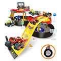 Toy car monster truck mobile tyre flame monster machines two scooter parking lot