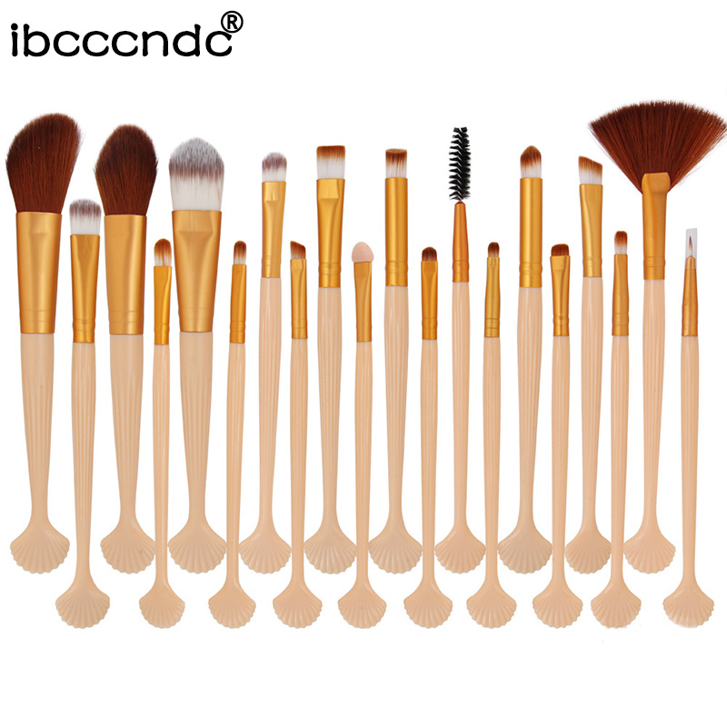 Fan Makeup-Brushes-Set Concealer Cosmetic Face-Shell Power-Eye-Shadow Eyes Beauty Brow