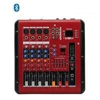 Усилитель аудио микшер 4 канальный Профессиональный смешивания PMR406 для Динамик и микрофон