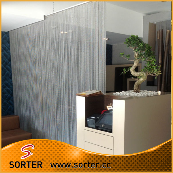 2016 new design fashion silver metal room dividers curtain for