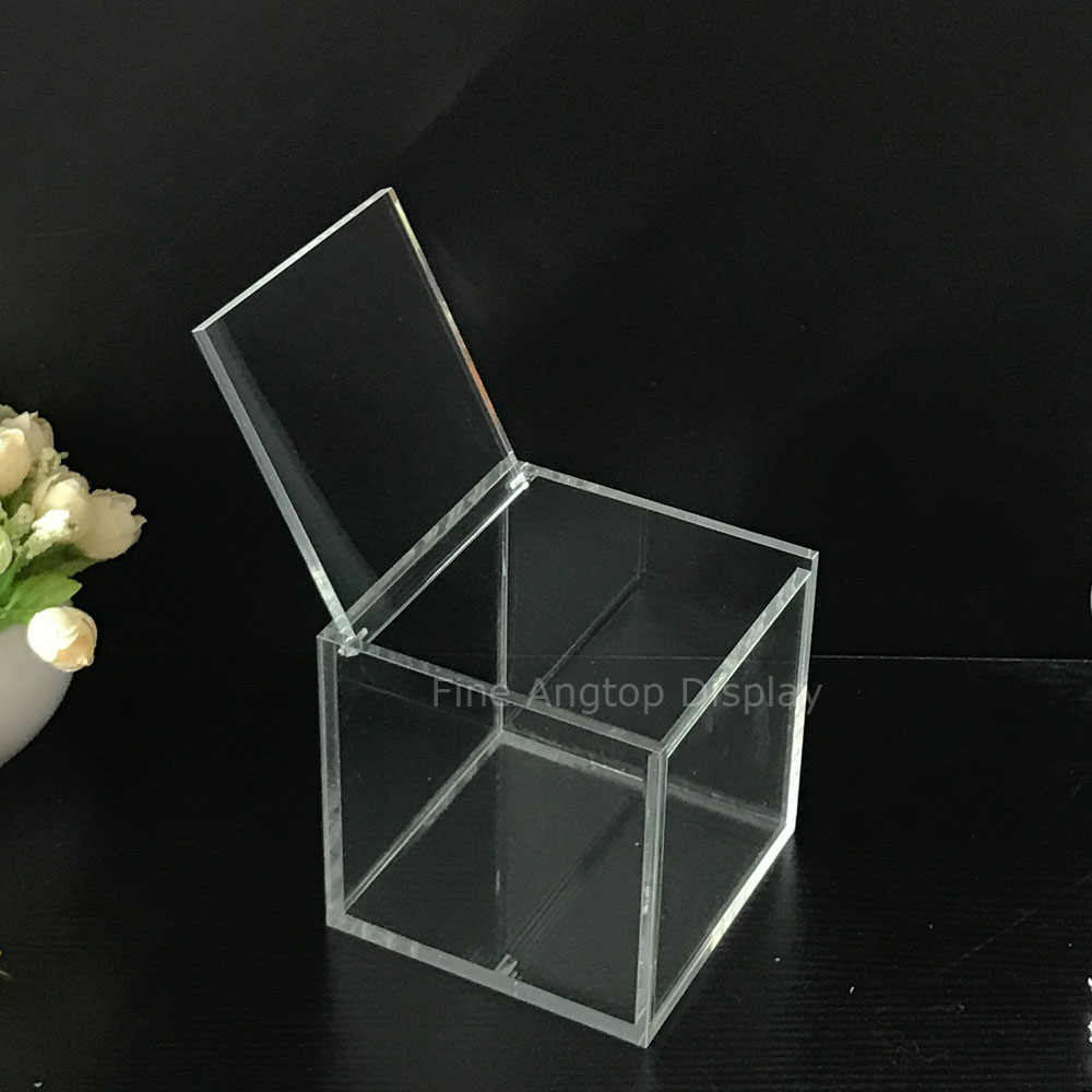 489ca6bfd48d Acrylic collection organizer retail clear cube box 11x11x11cm favor ...