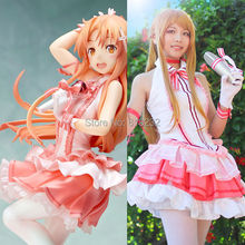SAO Sword Art Online Yuuki Asuna Uniform Shirt Dress Outfit Anime Cosplay Costumes
