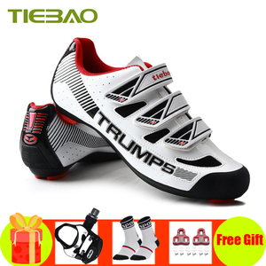 Tiebao pro cycling shoes sapatilha ciclismo SPD-SL pedals Self-locking breathable superstar sneakers athletic road bike shoes(China)