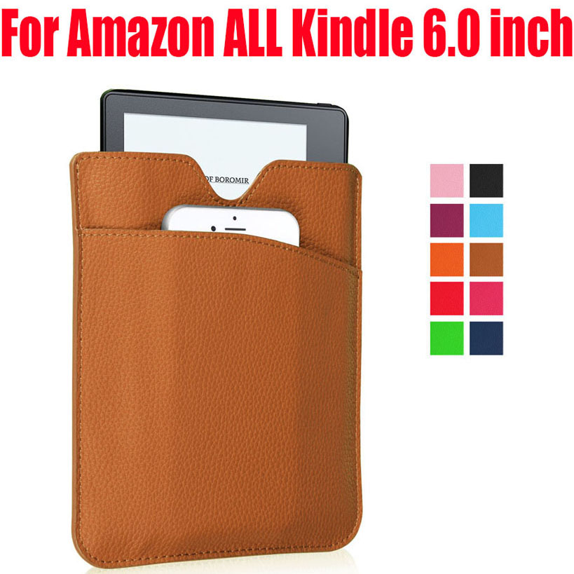 30pcs/Lot PU Leather Sleeve bag For Kindle oasis paperwhite voyage touch Ereader cover case for Amazon ALL Kindle 6.0 inch KO2 oasis противоштормовой механический 30 белый 10904200