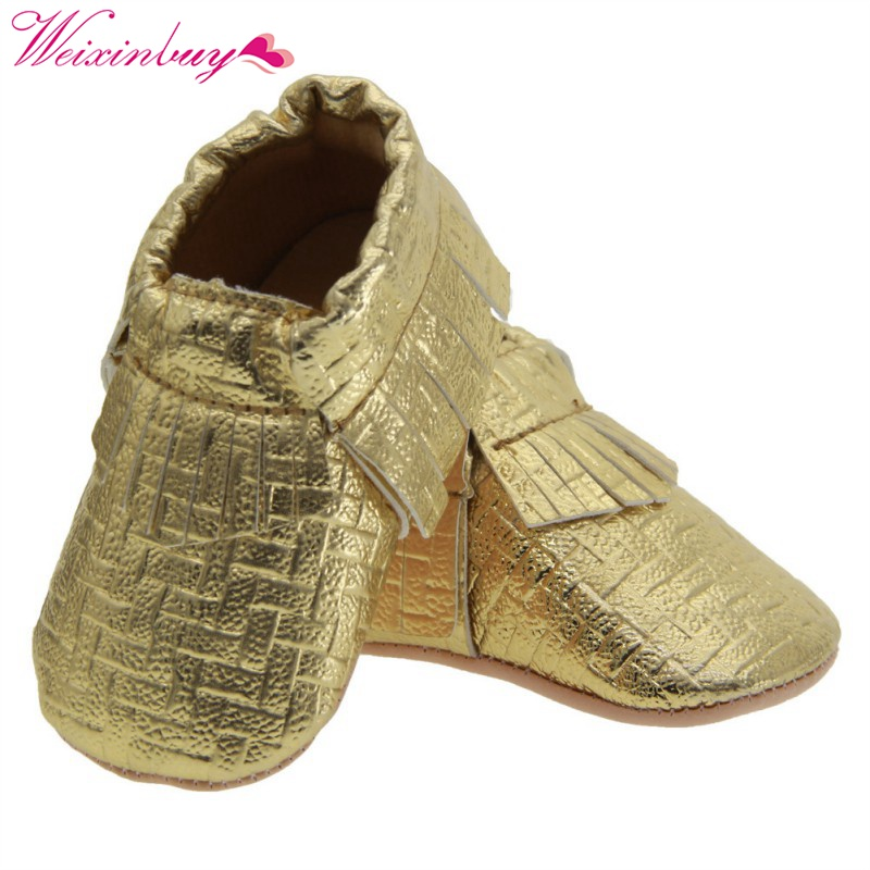 2017 Unisex Toddlers Baby Shoes Soft Soled Tassel PU Leather Crib Shoes  Prewalker Bow Shoe First Walkers Without Logo-in First Walkers from Mother    Kids on ... 2dde6afbb8ea