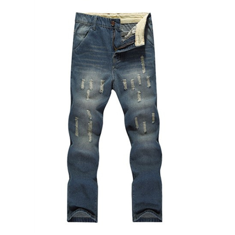 Aliexpress 2017 new spring autumn Europe and America Men Light-colored Broken Hole Slim Straight jeans Cheap wholesale mens overalls fashion 2017 spring and autumn fashion new products straight splicing hole jeans personality street trousers c165