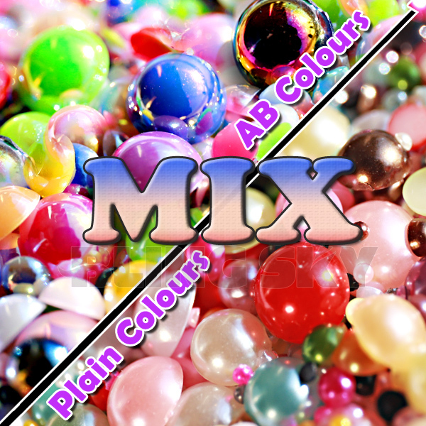 Mix Colors Sizes Half Round beads 2mm 3mm 4mm 5mm 6mm 8mm 10mm 12mm imitation ABS Flat back Pearls for women DIY Accessory Nail