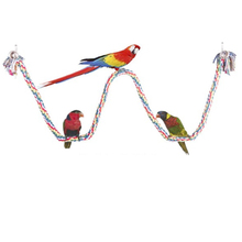 1pcs Pet Birds Parrot Toys Cockatoo Parakeet Bird Swing Budgie Cotton Climbing Rope Standing Rod for Playing Toy