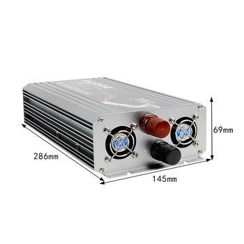 New Arrive 2000W Power Inverter 12V DC 220V Pure Sine Wave USB to AC 220V Solar Power Inverter Peak Power 4000W Free Shipping 6