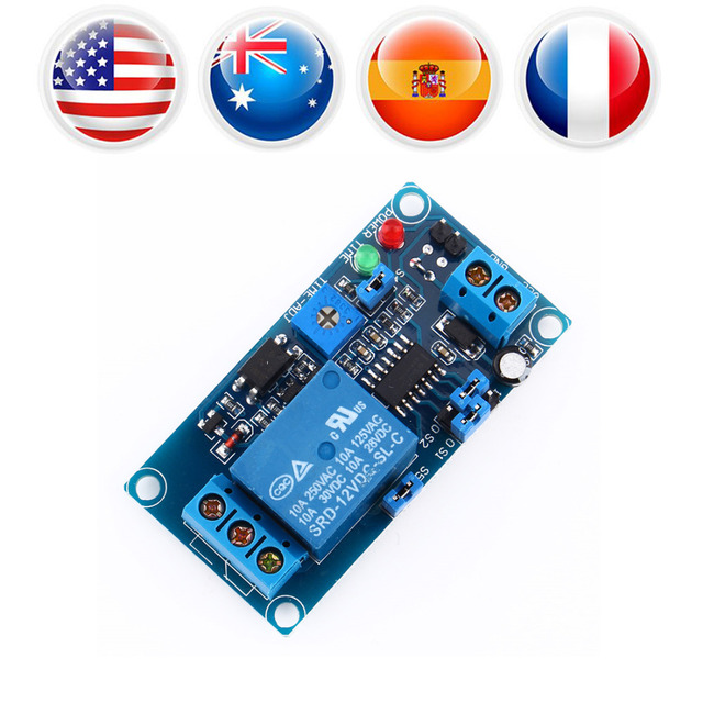 12V DC Delay Relay Timer Switch Module Delay Turn off Switch Board with Timer