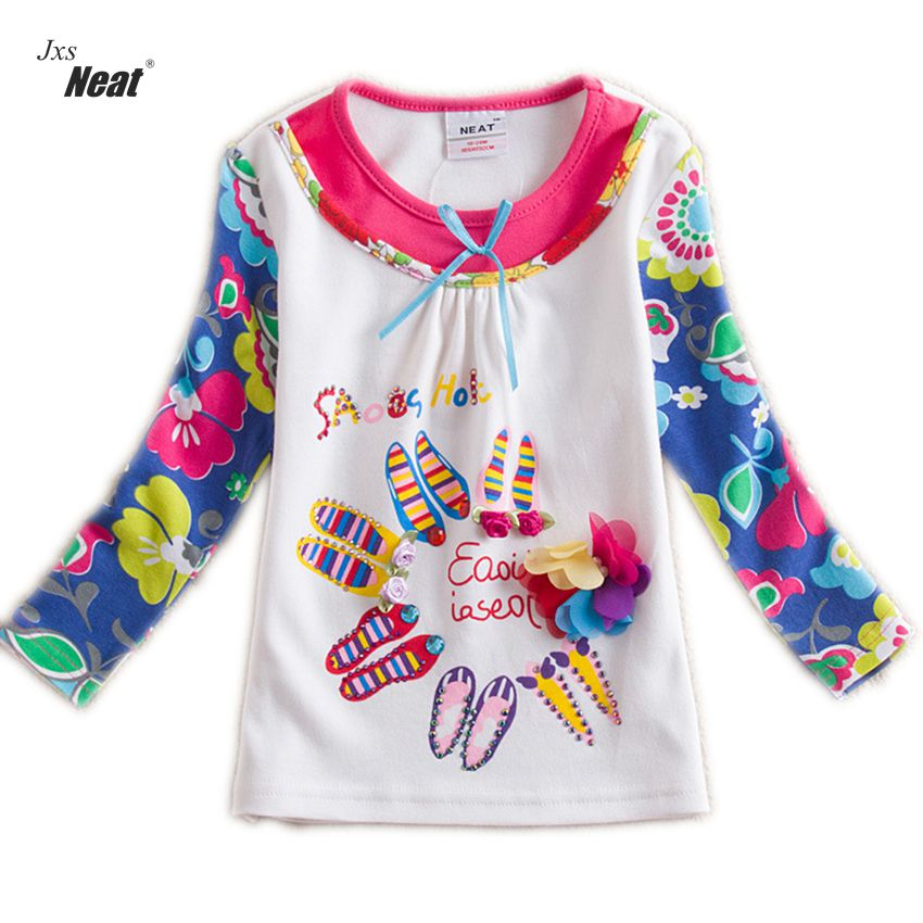 Jxs Neat cotton baby girl clothes long sleeve t shirts
