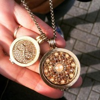 Mi Moneda Pendant Necklace With Rosario And Infinity Coin