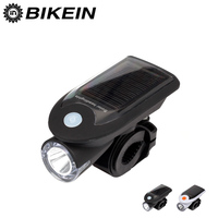 Solar Energy USB Rechargeable 2 In 1 Bicycle Safety Warning Lamp Cycling Bike LED Front Light
