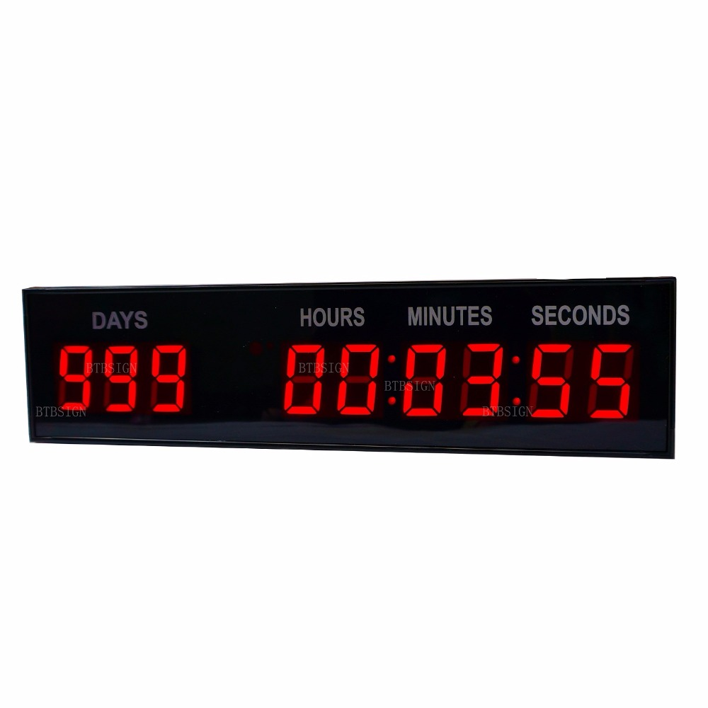 1.8'' 9Digits Red Large Countdown Clock Lap To Go Event Timer For Entertainment