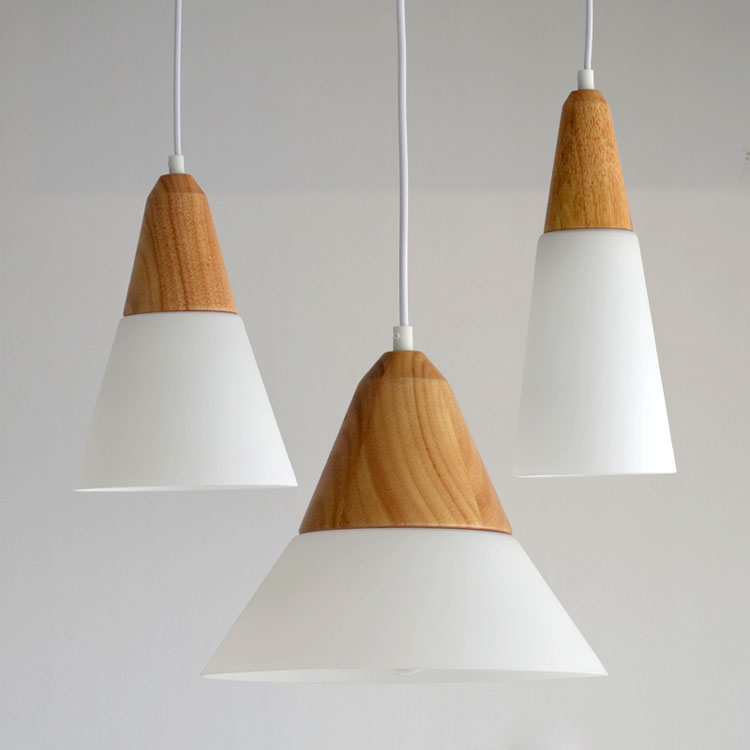 ФОТО 2016 new Creative simple modern solid wood single head glass lamp Restaurant Bar aisle personality lighting